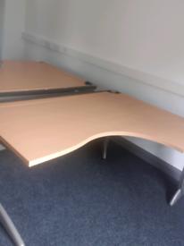 Beech steelcase corner office desks