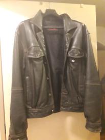 Leather diesel jacket