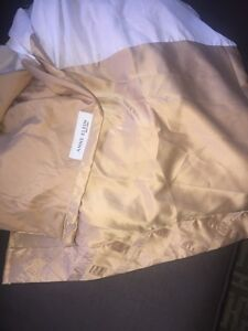 Gold king size bed skirt