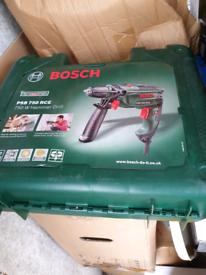 Brand New Bosch PSB 750 RCE 240v Electric Hammer Drill 13 mm keyless c