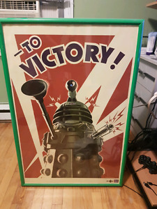 Doctor Who Poster With Frame