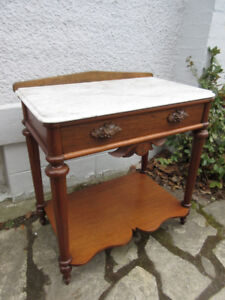 Marvelous Marble Top Antique (c1870) Table