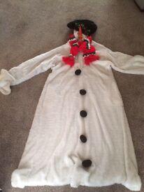 Snowman fancy dress costume