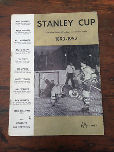 VINTAGE 1893 TO 1957 OFFICIAL HISTORY OF THE STANLEY CUP MAGAZIN