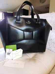 Kate spade black leather Beau handbag purse bag