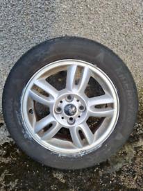 Mini Cooper 15 inch alloy wheel (damaged)