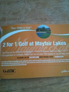 MAYFAIR LAKES GOLF 2 FOR 1 COUPONS!!!