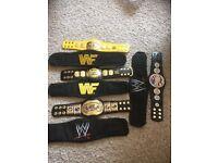 4 x MINI WWF & WWE METAL REPLICA WRESTLING BELT 12 INCH LENGTH
