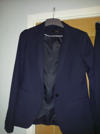 Navy tailored suit