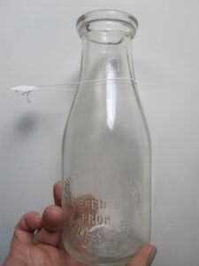 Army and Navy Milk Bottle