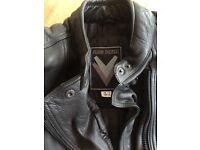 Frank Thomas leather motorcycle jacket