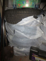 4 - Winter Tires and Rims - 215/78R15 98Q - Studless