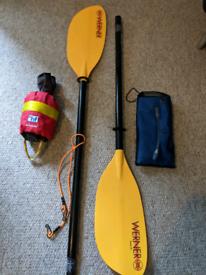 Kayak paddle equipment