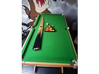 **pool table** 5ft x 2.5ft pool table