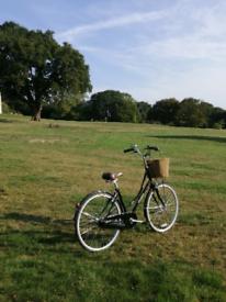 "Dawes Diploma Ladies Dutch Pashley Style Bicycle 18"" Black Frame"