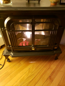 Electric Fireplace and Heater Coleman