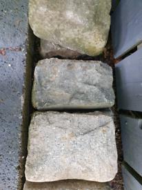 50 Granite cobblestones - various sizes