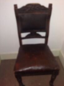 Antique heavy duty chairs x 5