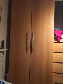 Ikea pax double wardrobe