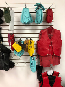 MEN WOMEN LEATHER DRIVING GLOVE HALLOWEEN COSTUME GLOVE GAUNTLET