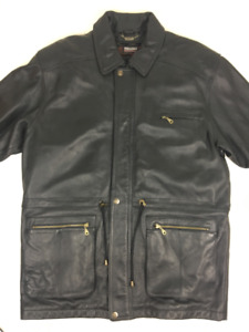DANIER MENS BLACK LEATHER JACKET IN EXCELLENT LIKE NEW CONDITION