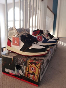 Union air jordan1 blue and black  limited sz8.5 and 9 deadstock