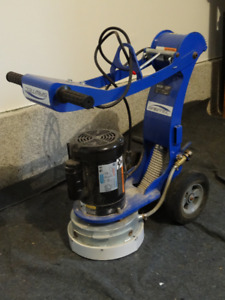 Sawtec floor grinder and Rigid wet/dry vacuum cleaner