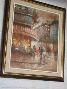 Oil on canvas street scene--Now reduced for quick sale!!! Oakville / Halton Region Toronto (GTA) image 1