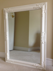 ANTIQUE/VINTAGE -Style BEVELLED Glass Mirror with WOOD Frame