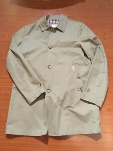 Ben Sherman Mac Trench Coat - size M Tan beige football casual