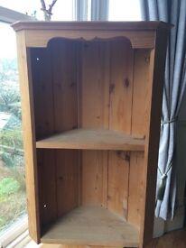 Pine Vintage Corner Shelf, Shabby Chic Farmhouse