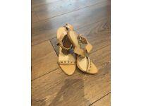 Zara heels stud detail size 3