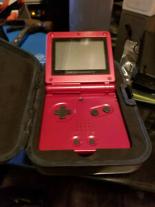 Game Boy Advance SP - Red (w/ Games/Cases)