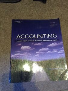 Accounting,volume 1, 2nd Canadian edition