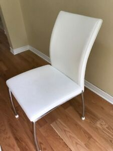 Leather White Chairs X 6