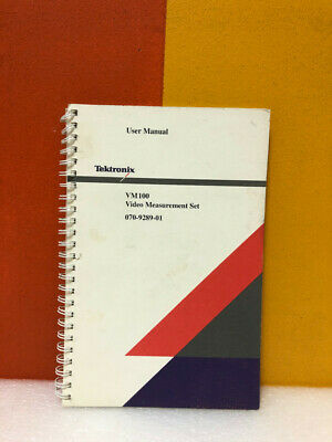 Tektronix 070-9289-01 Vm100 Video Measurement Set User Manual
