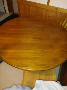 42 inch round table/leaf or farm style 3 x 6 table