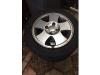 Ford Fiesta alloys with tyres