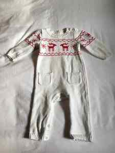 Knitted Reindeer One Piece 6-9 months