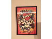 Ed hardy framed poster - OTO