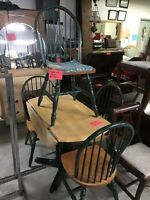 Table and 4 chairs $150