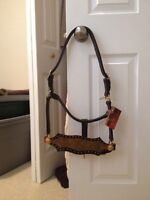 Leather halter with bronc band
