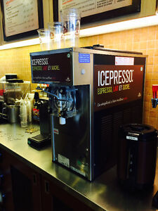 Iced Cappuccino and beverage machine