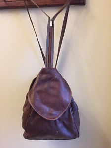ITALIAN LEATHER BACKPACK PURSE