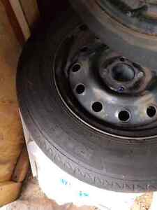 """14"""" tires and winter rims $150 phone calls only"""
