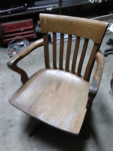 Old chair made in Kitchener Ontario