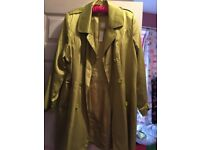 Green coat size 20