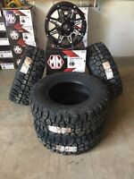 Dodge Ram/Jeep JK Mud Claw M/T Tire and Rim Package