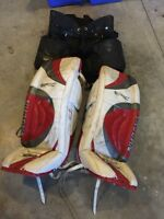 """37"""" Vaughn Epic 8000 pads and pants and gloves. $150."""