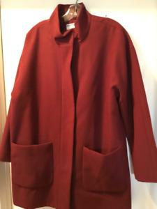 Ladies Burgundy winter coat.